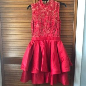 Jovani Size Two Red Cocktail